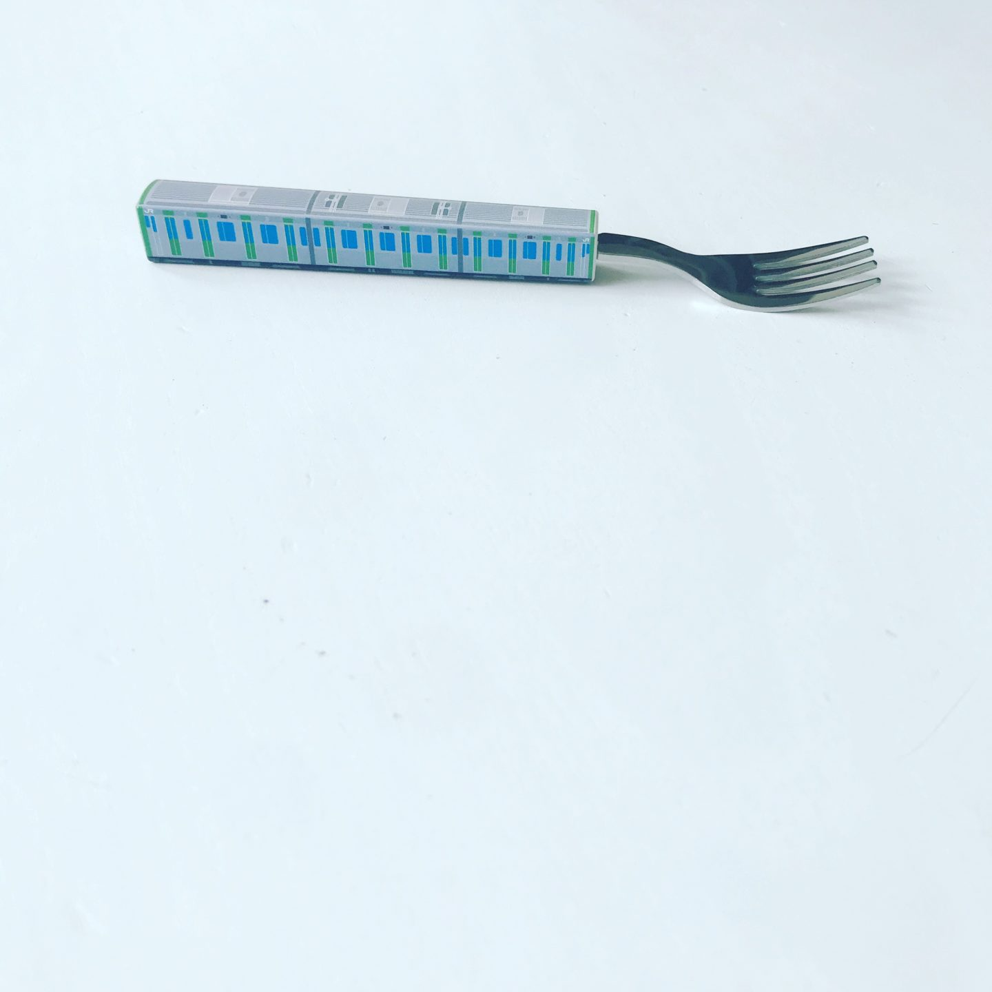 This fork that is shaped like a Yamanote Line train is the cutest. I bought it on Amazon Japan here.